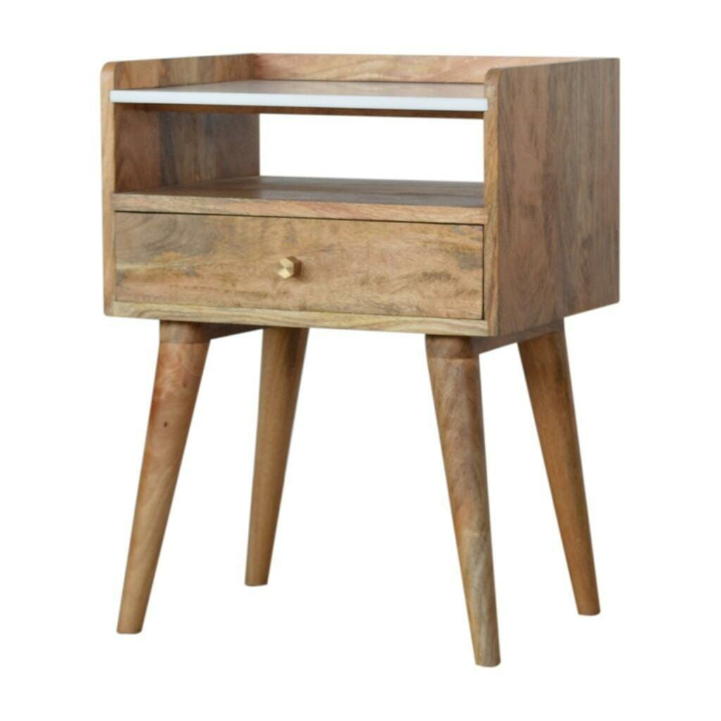 Open Slot Bedside with White Top