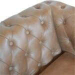 Brown Leather Chesterfield Sofa 6