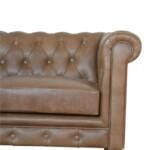 Brown Leather Chesterfield Sofa 7