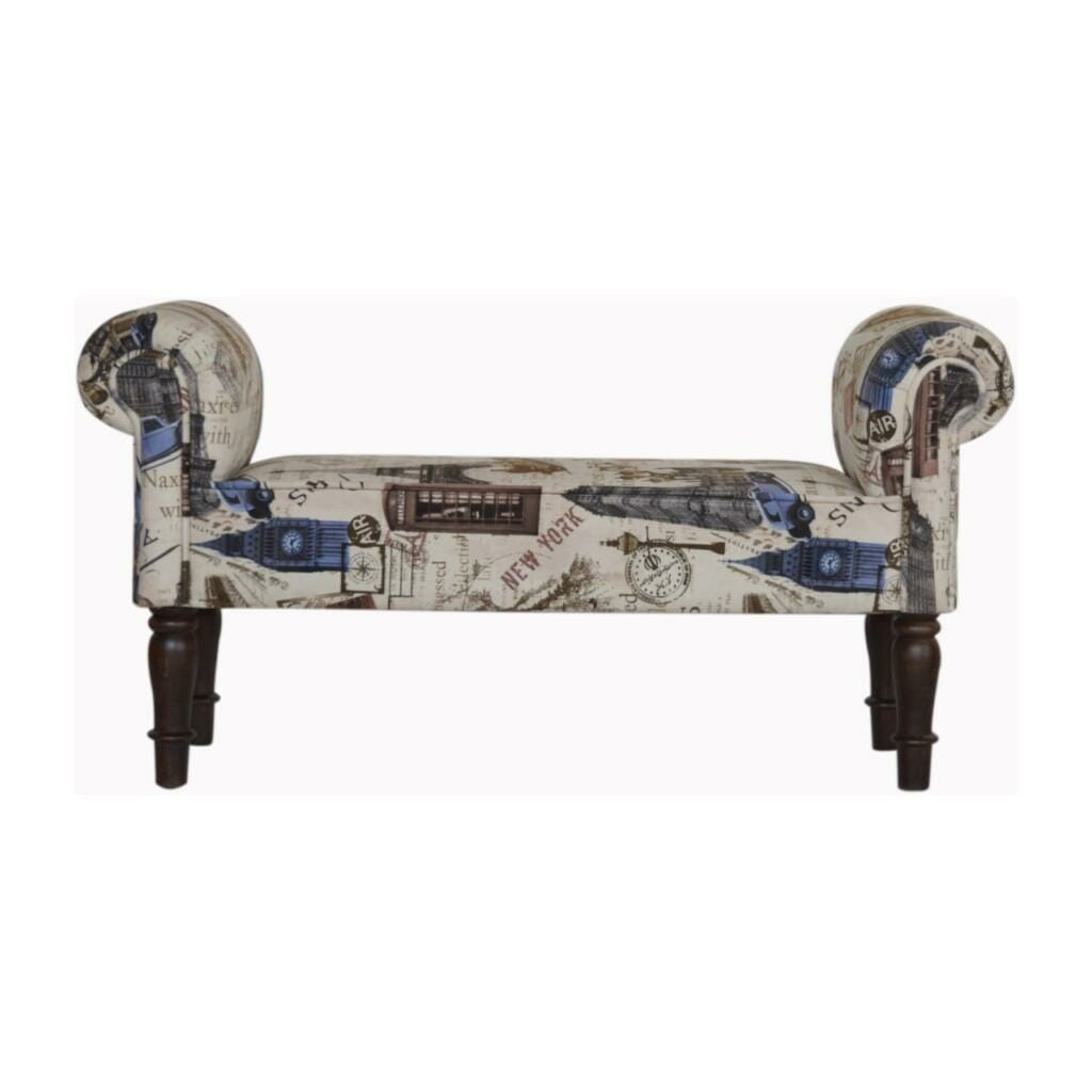 City Printed Bedroom Bench