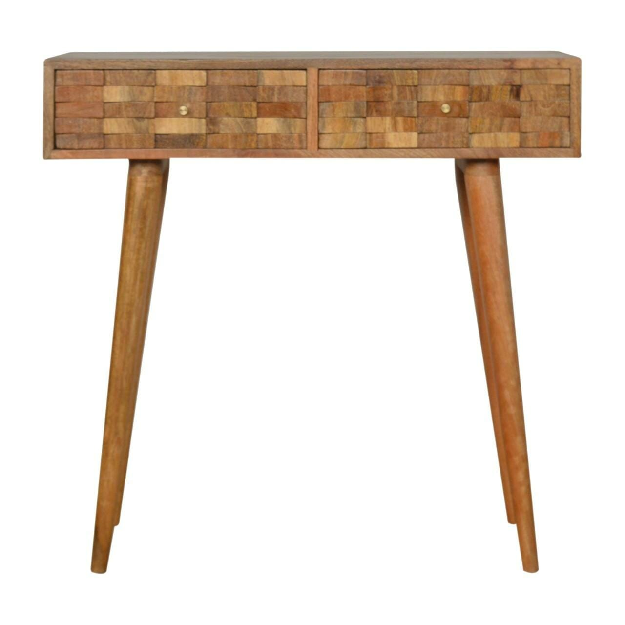 Tile Carved Console Table