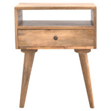Nordic Light Mango Bedside with 1 Drawer & Open Slot