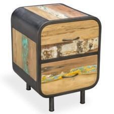 Seaside Retro 2 Drawer Bedside / Side Table