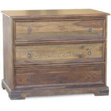 Jali 3 Drawer Flat Chest of Drawers
