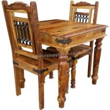 Jali 80cm Dining Table 2 Chairs