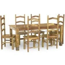 Jali Ruby Dining Table 6 Chairs 180cm