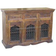Jali Sideboard 3 Door 3 Drawer Cabinet
