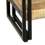 5-Tier Bookcase Solid Mango Wood and Steel 60x30x180 cm 5