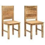 Dining Chairs 2 pcs Solid Mango Wood 1
