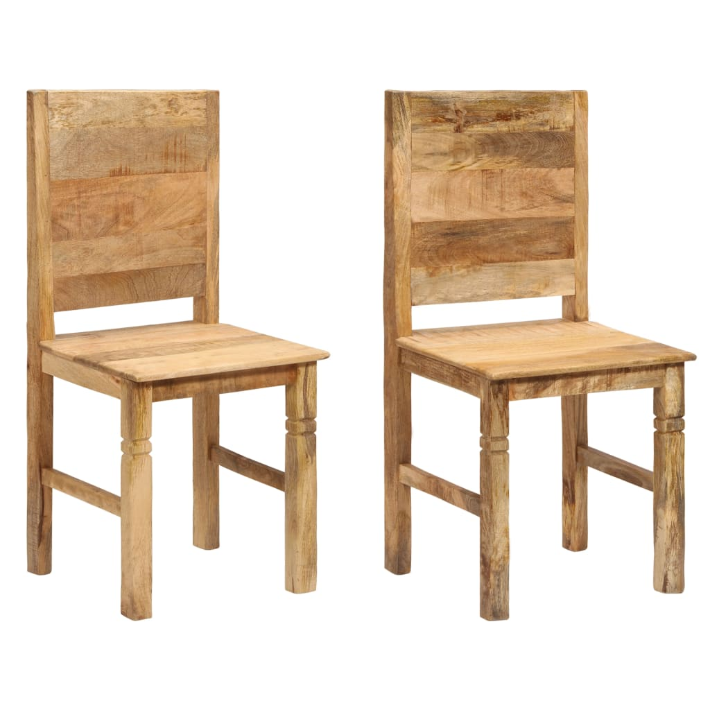 Set of 2 Wooden Dining Chairs Mango