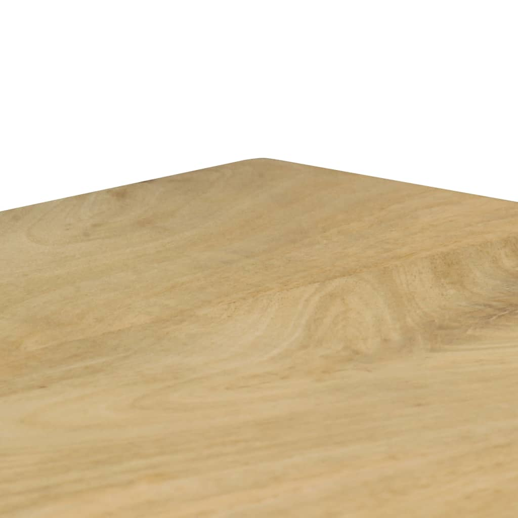 Dining Table 115x55x76 cm Solid Mango Wood and Steel