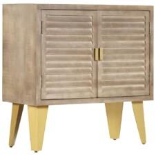 Small Sideboard 80x35x80 cm Solid Mango Wood and Cast Iron