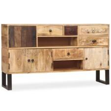 Large Sideboard Solid Mango Wood 140x30x80cm