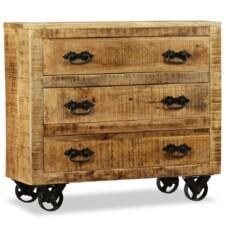 Sideboard with 3 Drawers Rough Mango Wood