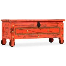 Storage Chest Solid Mango Wood 101x39x42 cm Red