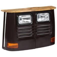 Truck Sideboard Solid Mango Wood Dark Grey