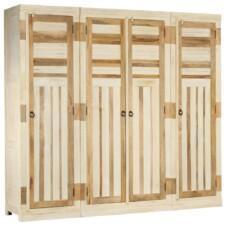 Wardrobe Set 3 Pieces Solid Mango Wood
