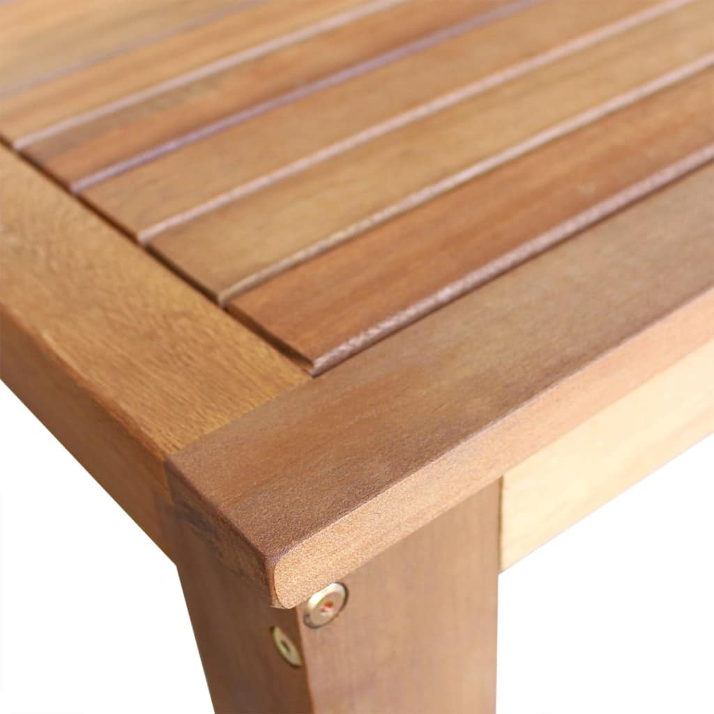 Bar Table and Stool Set 5 Pieces Solid Acacia Wood