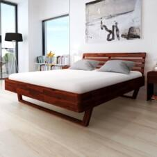 Bed Frame Solid Acacia Wood 180x200 cm