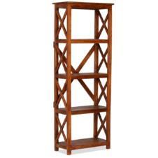 Bookshelf Solid Acacia Wood Sheesham Finish 60x30x160 cm