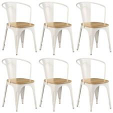 Dining Chairs 6 pcs White Solid Mango Wood