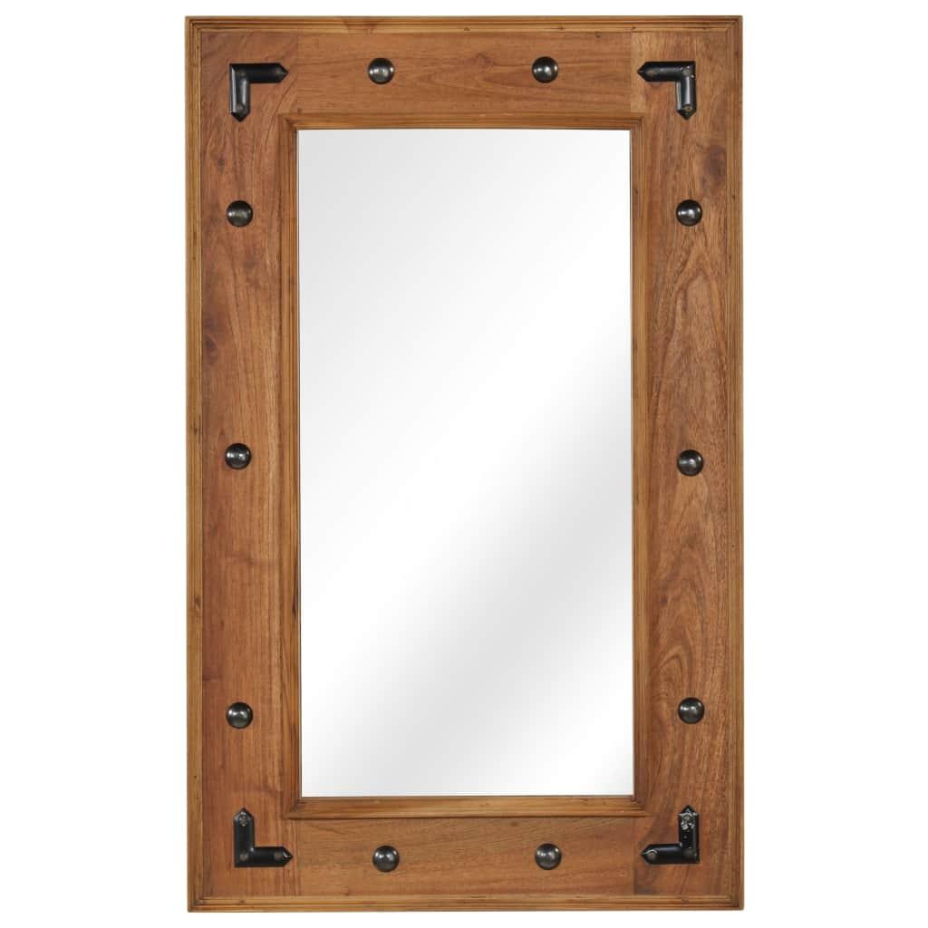 Mirror Solid Acacia Wood 50x80 cm