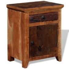 Nightstand Solid Acacia Sleeper Wood