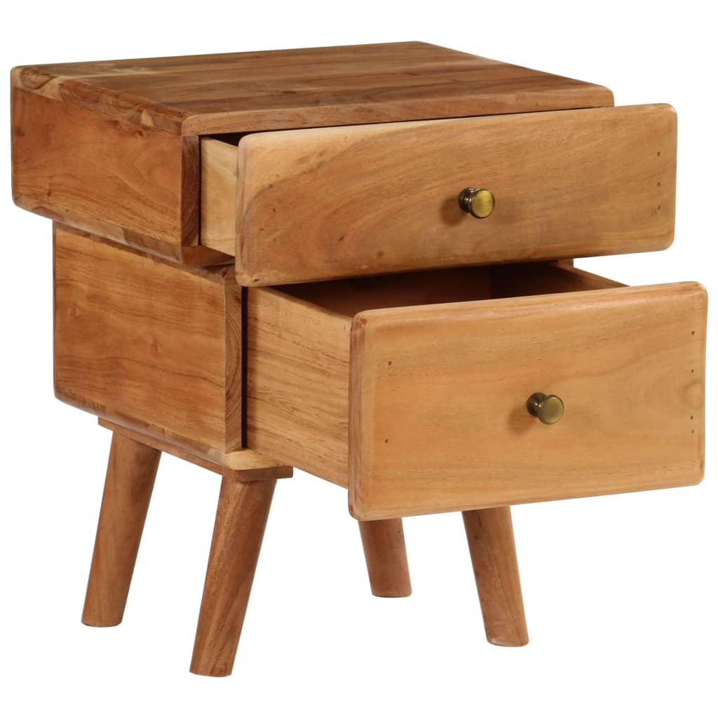 Nightstand Solid Acacia Wood 40x35x49 cm