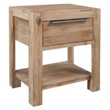 Nightstand with Drawer 40x30x48 cm Solid Acacia Wood