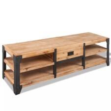 TV Stand Solid Acacia Wood 140x40x45 cm
