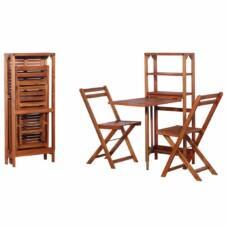 2 Seater Folding Garden Set Solid Acacia Wood