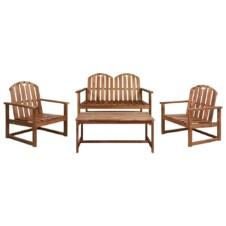 4 Piece Outdoor Lounge Set Solid Acacia Wood