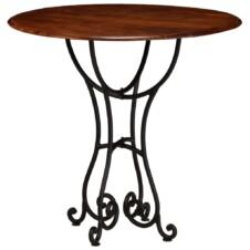 Dining Table Solid Acacia Wood with Sheesham Finish 80x76 cm