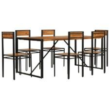 Dinning Set 7 Pieces Solid Acacia Wood with Sheesham Finish