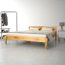 Bed Frame Solid Mango Wood 160x200 cm