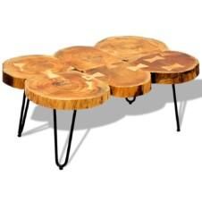 Coffee Table 35 cm 6 Trunks Solid Sheesham Wood