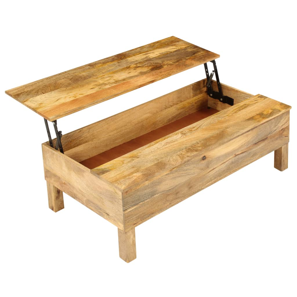 Coffee Table Solid Mango Wood 110x55x35 cm