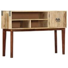 Console Table 115x30x76 cm Solid Rough Mango Wood