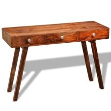 Console Table with 3 Drawers 76 cm Solid Sheesham Wood