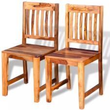 Dining Chairs 2 pcs Solid Sheesham Wood