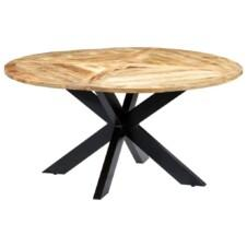 Dining Table Round 150x76 cm Solid Mango Wood