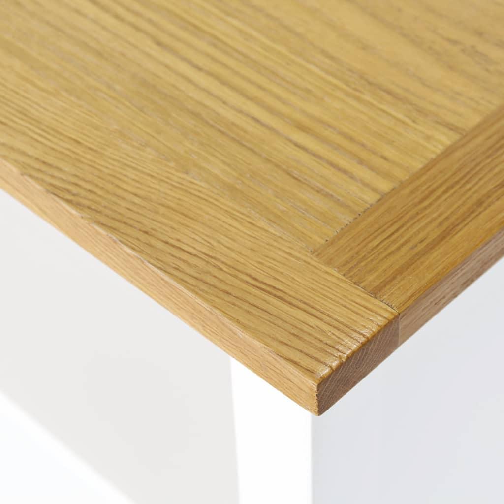 6-Tier Bookcase 80x30x180 cm Solid Oak Wood