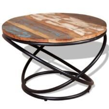 Coffee Table Solid Reclaimed Wood 60x60x40 cm
