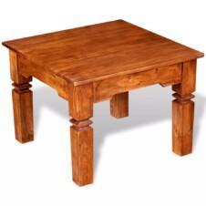 Coffee Table Solid Wood 60x60x45 cm