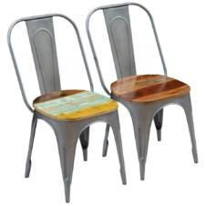 Dining Chairs 2 pcs Solid Reclaimed Wood 47x52x89 cm