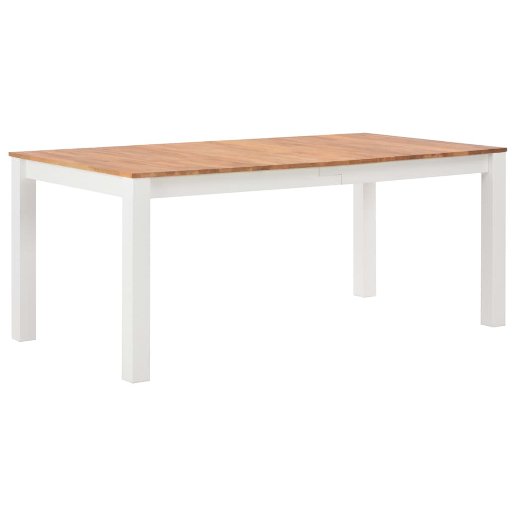 180cm Colonial Painted White Dining Table Solid Oak Wood Top