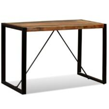 Dining Table Solid Reclaimed Wood 120 cm