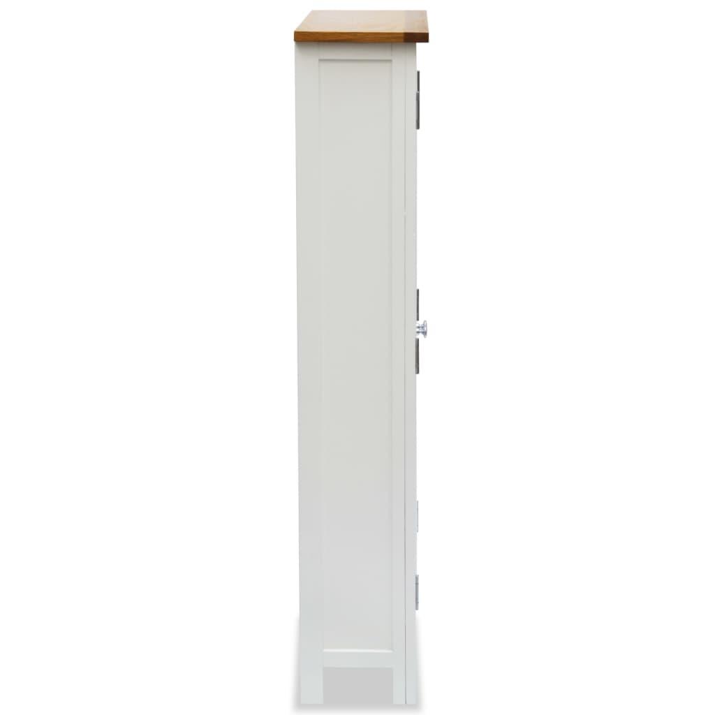 Media Storage Cabinet 50x22x122 cm Solid Oak Wood