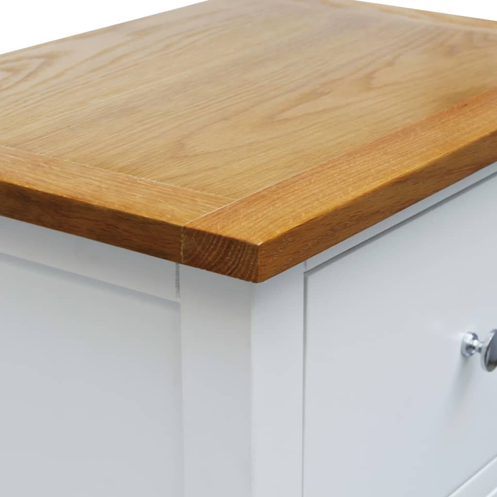 Tall Chest of Drawers 45x32x115 cm Solid Oak Wood