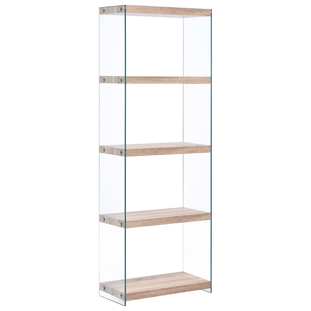 5-Tier Bookshelf Oak 60x29x167 cm MDF